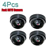 #6: Cpixen 4 Pcs Dummy CCTV Dome Camera with blinking red LED light. For home or office Security