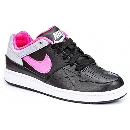 Nike Mädchen Priority Low Gs Basketballschuhe Schwarz / Rosa / Grau (Schwarz / Pink Pow-Wolf Grau)