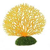 UEETEK Künstliche Aquarium Ornament Dekor Korallen Plastikpflanze Dekorationen für Fish Tank (Orange)