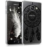 kwmobile Étui transparent élégant avec Design attrapeur de rêves pour Samsung Galaxy A3 (2016) en noir transparent