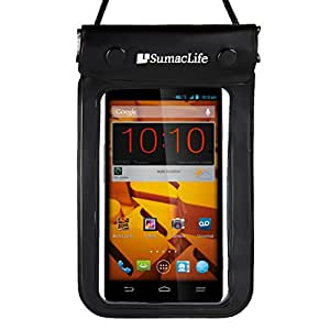 Sumaclife Waterproof Bag Dry Pouch Case For Microsoft Lumia 950 Xl / 950 / 640 / 540 / 535 Windows Phones With Windshield Mount & Auxiliary, Black (AD_SMSWAP206DAT151HOL001_CW04)