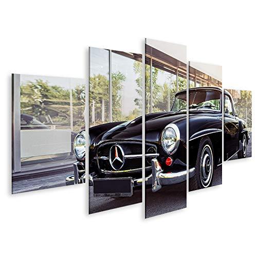 Bild Bilder auf Leinwand Nowosibirsk, Russland - 16. Juni 2017: Mercedes-Benz 190 sl, Seitenansicht. Fotografie eines Oldtimers auf Einer Straße in Nowosibirsk Wandbild, Poster, Leinwandbild