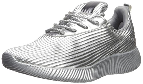 Qupid Frauen Fashion Sneaker Silber Groesse 7 US /38 EU 07 Sneakers