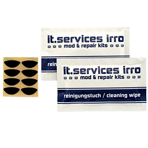 2x Sets Glides / Mausgleiter passend für Logitech V320 / V450 / M505 / M525 / M545, inkl. 2 Reinigungspads