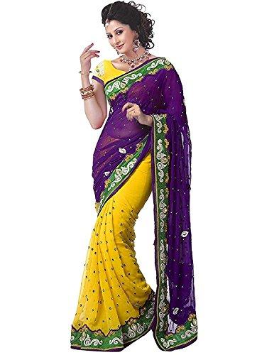 Saree By Saree Mandir Georgette Saree With Blouse Piece (_Multi_Free Size)