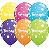 Alter 13/13th Geburtstag Teenager! Tropische Verschiedene Qualatex 27.9cm Latex Ballon x 10