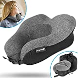 Travel Neck Pillow, Fosmon Soft and Comfortable Memory Foam Neck, Head & Chin