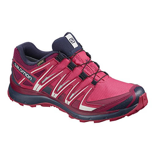 Salomon Damen Wanderschuh XA Lite GTX Traillaufschuhe, Pink (Virtual Pink/Cerise/Evening Blue), 42 EU