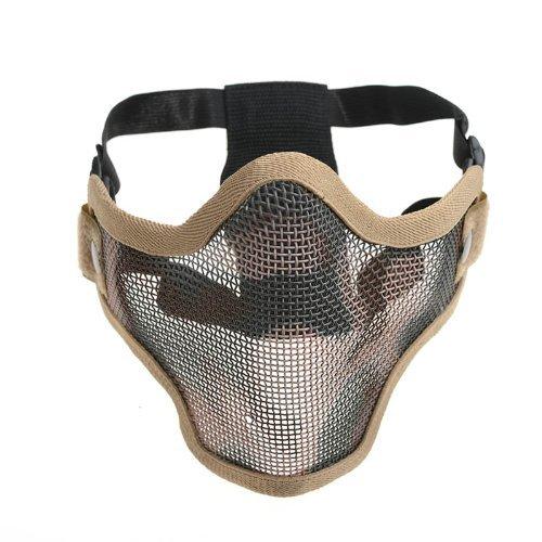 Generisches Taktische Airsoft Wargame Wache Masche Metall Halbe Gesichtsmaske-Tan