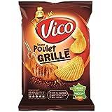 Vico chips ondulees saveur poulet grille 120g (Prix Par Unité) Envoi Rapide Et Soignée