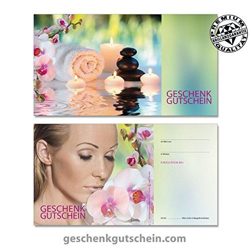"""50 Stk. Gutscheinkarten """"Standard"""" für Kosmetik, Wellness, Massage, Spa, KS1233, LIEFERZEIT 2 bis 4 Werktage !"""