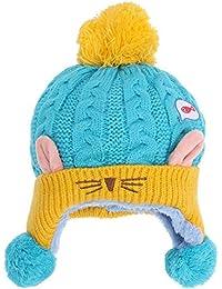 Domybest Cappello Invernale Infantile di Lana Mescolata Cappello Carino  Comodo per Bambini cfb4b303735d