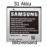 Samsung Handy Akku Batterie für Original I9000 Galaxy S1 EB575152LU Accu @kaufhausbilliger