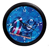 Disney Captain America Digital Printed Round Analog Wall Clock