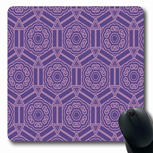 Luancrop Mauspads für Computer Quilt Canvas Geometrisches Muster Abstrakter Zierteppich Zellfarbe Tröster Ethnisches Design rutschfeste, längliche Gaming-Mausunterlage -