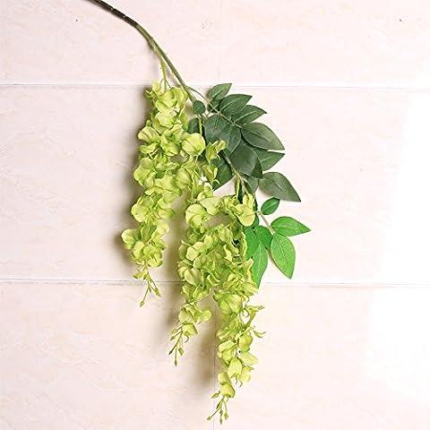 ShiQi verdadero toque falso techo de flores verdes enredaderas florales Flores artificiales Casa jardín decoración de boda