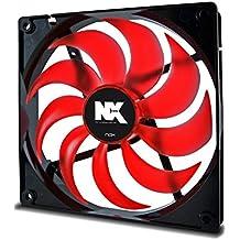 Nox NX140 - Ventilador 140 x 140 x 25 mm, color rojo