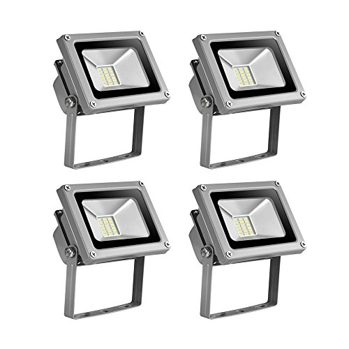 4x20W Luz Blanco frío Focos LED, La luz ordinaria LED 1500LM,Impermeable IP65