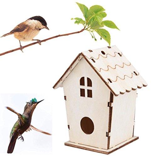 2018 Nest DOX Nest Maison Maison des Oiseaux, Bird's House boîte à Oiseaux Bird Box boîte en Bois pour Oiseaux (Kaki C)