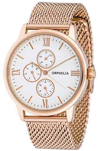Hombre-reloj analógico de cuarzo Orphelia acero inoxidable OR22970717