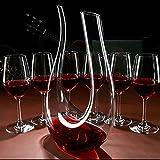 Dekantierer,Smaier 1200ml Karaffe Wein Belüfter Dekanter Aerator Set Dekantiergefäß Wein Geschenk - 5