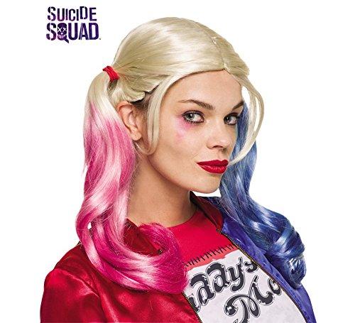 Rubies Harley Quinn Peluca – pelotón del Suicidio – Adulto Disfraz