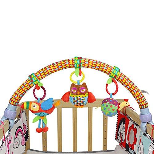 Zantec Giocattolo Cute Forest Cloth Uccelli Giocattoli Giocattoli da Viaggio per Bambini Arch Activity Bar per Passeggino Carrozzina Presepe Modello 1