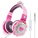 Vcom, De801, Cuffie per Bambine con Automaticamente 85Db Volume Limiting Cavo Audio da 3,5 Mm, Rosa
