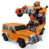 Best sin marca Kids eléctrica - Pinjeer One Button Transformers Control Remoto del Coche Review