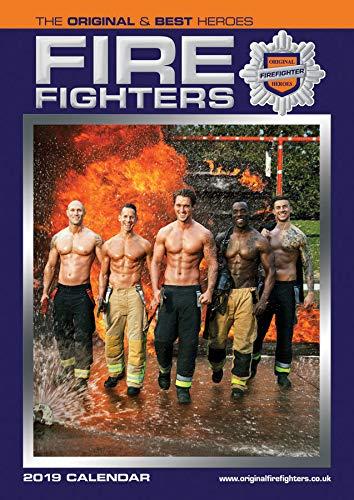 FIREFIGHTERS CALNDAR 2019 FIREMAN ORIGINAL OFFIGHTERS OFFICIAL Large (A3) Wandkalender NEU & versiegelt (inkl. gratis Weihnachtsgeschenk von DEC 1ST)