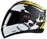 Steelbird air beast Matt black yellow 600mm with plain visor