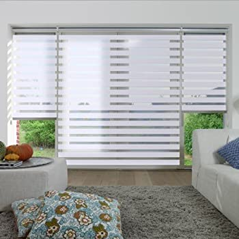 extreme dual function roller blind white 11 sizes. Black Bedroom Furniture Sets. Home Design Ideas