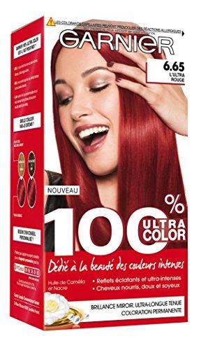 Garnier - 100% Ultra Color - Coloration permanente Rouge - 6.65 L'Ultra Rouge