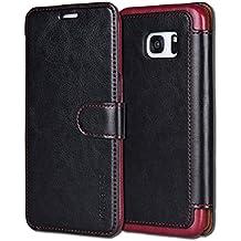 Coque Galaxy S7 Edge,Mulbess [Card Slot Vintage Series] Housse Etui en cuir Avec Wallet UltraSlim pour Samsung Galaxy S7 Edge Color Noir [Flip Case Cover]