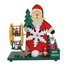 Biback Christmas Santa Claus Panorama-wiel met windmolen 圣诞老人