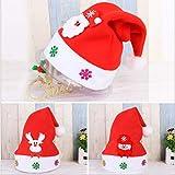 Minleer Cappelli di Babbo Natale (3 Pack), Cappelli per Adulti, Cappello di Natale Non Tessuto, Cappelli di Babbo Natale con Pupazzo di Neve (Formato Adulto)