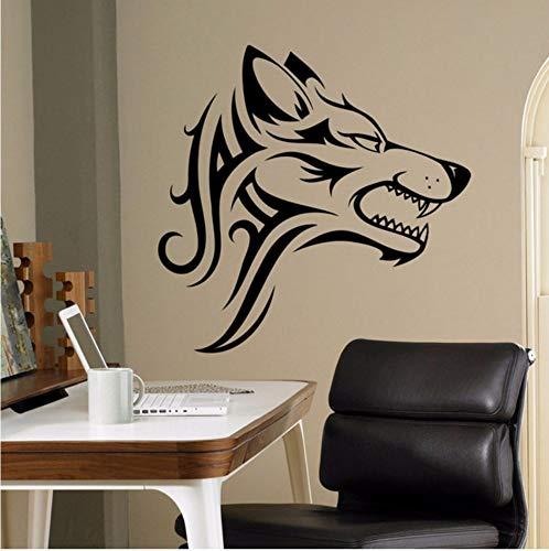 ndtattoo Beast Wild Animal Vinyl Aufkleber Home Decor Ideen Innenwandkunst Büro Coole Wanddekoration Diy 42X41 Cm ()