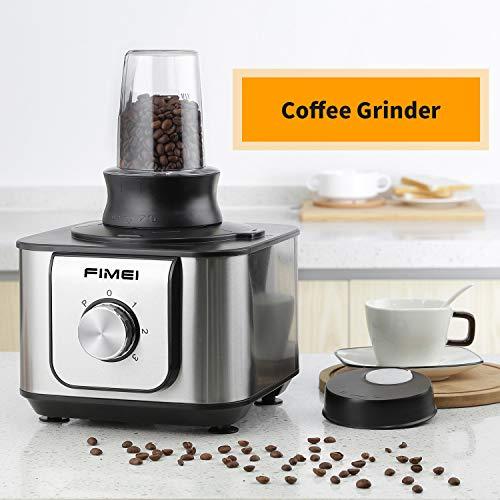 FIMEI HGM406 Robot Multifonction, 1100W Robot de cuisine, 3 Disques Moteur, 11 in 1, Hachoir Electrique, Blender, Mixeur Batteur, Presse-fruits, Moulin à café, 3.2L Collection Bol et 1.5L Blender
