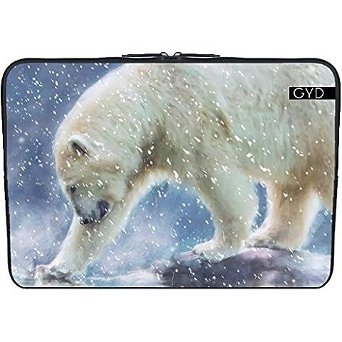 """Coperchio Neoprene Laptop Netbook PC 15.6 """"pollici - Un Orso Polare In Acqua by Gatterwe"""
