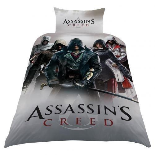 Assassins Creed singolo set copripiumino regalo di biancheria da letto