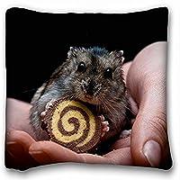 Decorativo Quadrato Throw Pillow Case animali criceto mani Biscotti dita. 18x 18in due lati