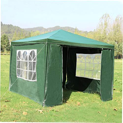 BFBH 3x3m Außen Shade Baldachin Faltzelt wasserdichte Sun Shelter Gazebo Partei Marquee Camping Picknick Zelt Pergola-Markise Vordach(Green & 3 * 3M)