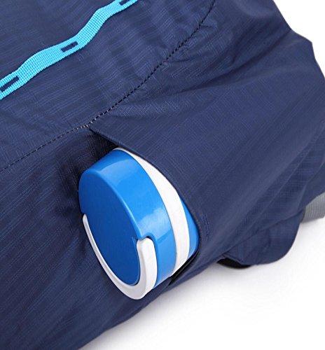 LF&F Backpack 20-35L Kapazität wasserdichtes Nylon Sportrucksack Reise Wandern Bergsteigen Camping Reittasche Outdoor-Tasche Wasserbeutel Rucksack Multifunktions-Unisex Multi-Pocketed Dark Blue