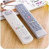 Coque Telecommande TV Housse de télécommande de TV Climatisation protecteur en silicone transparent Housse de protection anti-poussière imperméable (1 set)