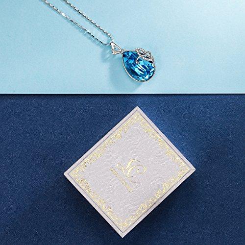 Lady colour - Papillon - Collier Femme - cristaux de Swarovski - la collection Nature Blue