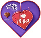 Milka, I love Milka Geschenkherz, Romantik, Pralinen, 187g, 4er Pack (4 x 187 g)
