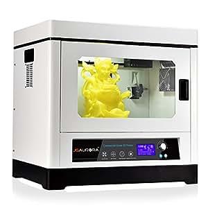 Imprimante 3D, JGAURORA A-8 3D Dual-extrudeuse Imprimante avec Buit-in de lumière LED, Turbosoufflantes et Mise à jour Slideway