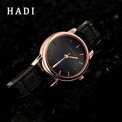 Vycloud (TM) Vendita calda noto marchio di moda dell'amante delle coppie orologio da polso in pelle Orologi vestito delle donne degli uomini del regalo della vigilanza del quarzo amante XR1664