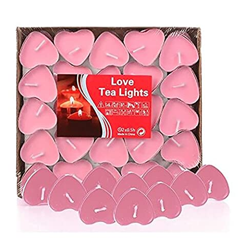 HKFV Superb Unique Romantic Atmosphere Create Love Wedding Party Heart Shaped Scented Candles Home Decor Say Your Love With The Heart Lighting 50pcs
