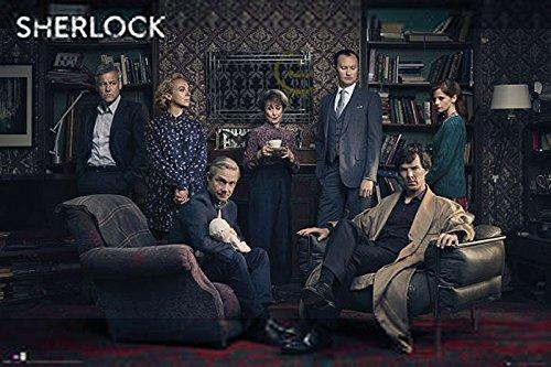 Poster Sherlock - Personnages (91,5cm x 61cm)
